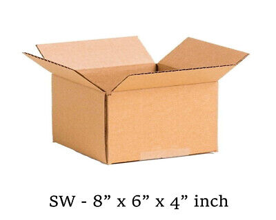 """50 x Small Packaging Cardboard Boxes 8 x 6 x 4/"""" SINGLE WALL"""