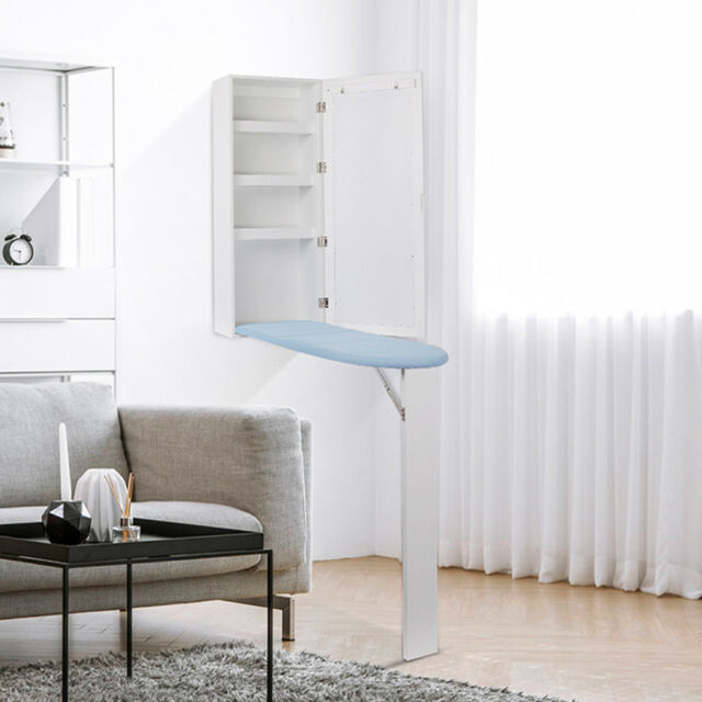 New Ironing Board Cabinet Organizer With Storage And Mirror Hide Away Wall Mount