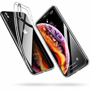 ESR Coque iPhone XS Silicone, iPhone X Coque Transparente Gel Silicone TPU Soupl