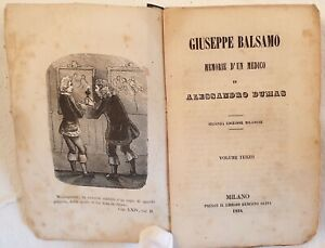 ALEXANDRE DUMAS PERE GIUSEPPE BALSAMO MEMORIE D'UN MEDICO 1854 INCISIONI