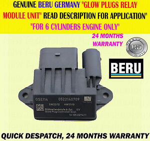 6 x Glow Plug /& Module de commande Jeep Grand Cherokee WK 3.0D 2005-2010 IGP//WK//003A