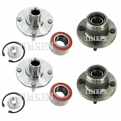 TIMKEN Rear Wheel Hub and Bearing Pair For Ford Focus
