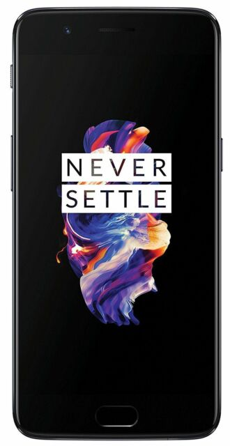 OnePlus 5 Duos 64GB 6GB 20MP+16MP Camera-OPEN BOX-6 MNTH WARR.-Grey *Refrbished*