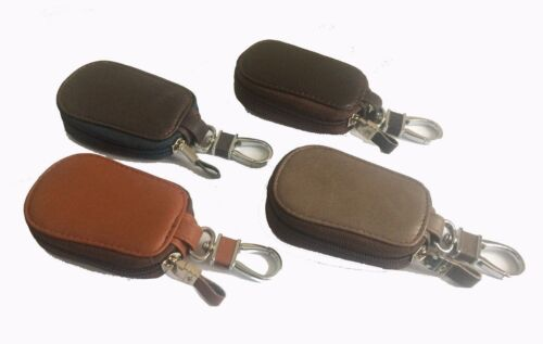 Real Leather Key holder Wallet Key Ring Case Key Fob Zipped Coin Pouch Purse