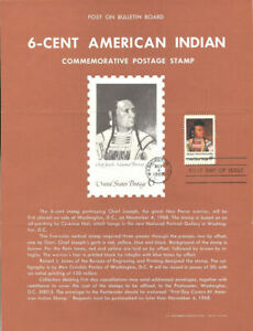 1364-6c-Chief-Joseph-Stamp-Poster-Unofficial-Souvenir-Page-Folded-MC