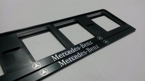 2X NEUF MERCEDES-BENZ EXCLUSIF SUPPORT DE PLAQUE D/'IMMATRICULATION