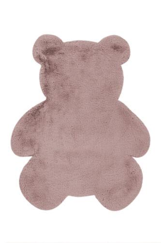 Flauschig Kinderzimmer 73x90cm Kinderteppich Teddy Bär Rosa Verschied
