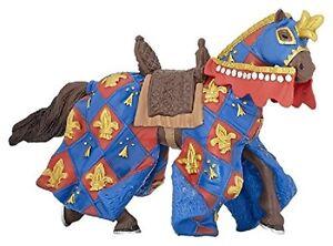 Pferd-des-Ritter-Lilie-blau-14-cm-Ritterwelt-Papo-39787