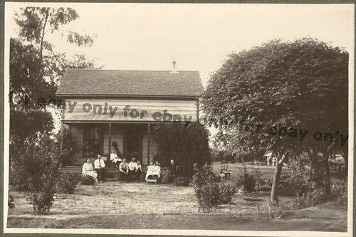 RARE Vintage Old Photo of the ATKISSON Family in FOWLER Fresno County California