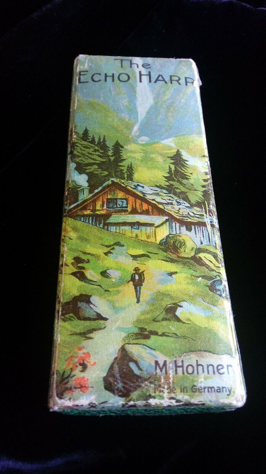 Vintage The Echo Harp Harmonica von M. Hohner in Original Box, Made in Germany