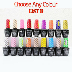 OPI GELCOLOR Soak Off UV LED Gel Polish 15ml 0.5oz - Choose ANY Colour  * PART B