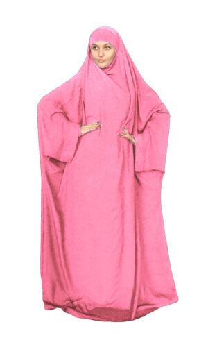 Hooded Muslim Women Prayer Dress Robe Hijab Abaya Khimar Jilbab Kaftan Overhead