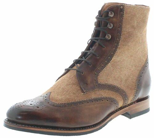 Sendra Boots 16377 Natural Beige Damen Lederschuhe Lederstiefeletten Braun
