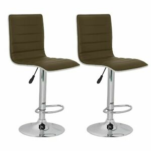Dettagli su vidaXL Sgabelli sedie design moderno bar e cucina 2 sgabelli  ecopelle ergonomici