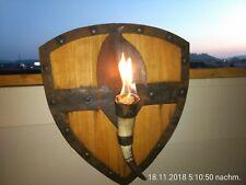 Gartenfackel Feuerschild Wikinger Hornfackel Ethanol Kunstschmiede