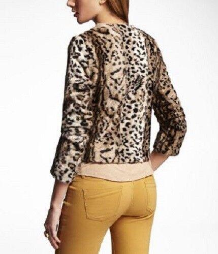 Frakke Faux Cheetah Jakke Express Calf Leopard Tiger S Pony Animal Fur Print Hair UxSqwZv