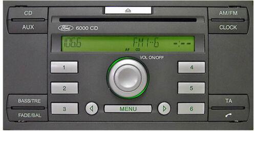 Ford 6000 Reproductor De Cd Ford Transit Auto Estéreo headunit Con Radio retiro llaves