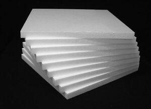 4 Styrofoam Blocks Sheets 12 X 12 X 1 White Eps