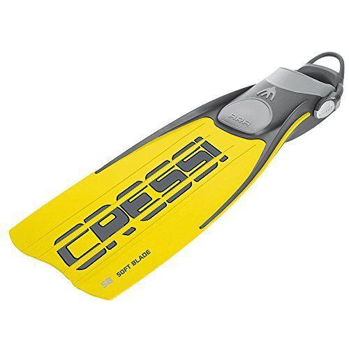 Cressi Ara  Open Heel Hard Blade Fins W// Bungee Straps Pick SZ//Color.