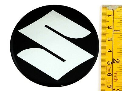 "SUZUKI *4 x NEW* Emblems 70mm (2 3/4"") WHEEL CENTER CAP STICKERS 3D DECALS"