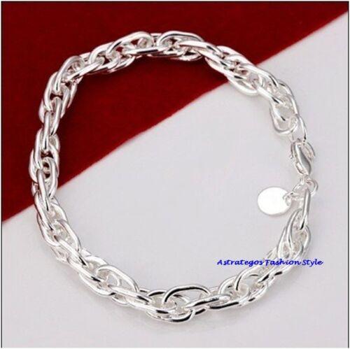 Schönes Armband Silber plattiert auch für Charms Karabinerverschluß