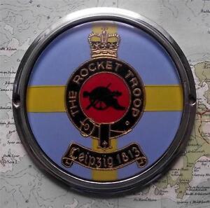 c1950-Vintage-Car-Mascot-Badge-British-Army-The-Rocket-Troop