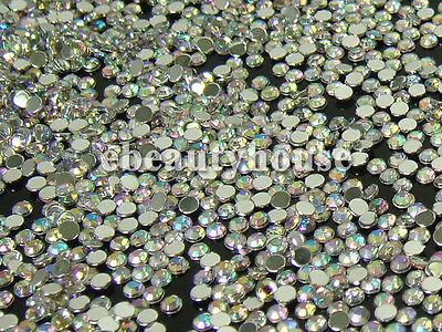 1,000 Pcs 2mm Nail Art Multicolor Illusion Glitter Rhinestone #072B