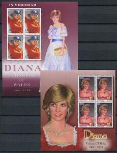 Malediven-Maldive-2002-Lady-Diana-Royalty-4051-4052-Kleinboegen-Postfrisch-MNH