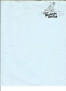 MF-038-Waukesha-1834-Club-Letterhead-Vintage-with-Envelope-Single-Sheet-Girl