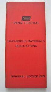 Vintage 1969 Penn Central Railroad PC Hazardous Materials Regulations Rules Book
