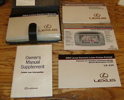 2001 LEXUS GS430 GS300 OWNERS MANUAL 01 SET GUIDE GS 300 430 W ...