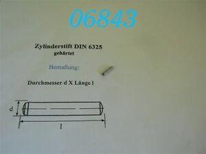 Cylindre plumes durcis DIN 6325 Acier Blank Tolérance m6