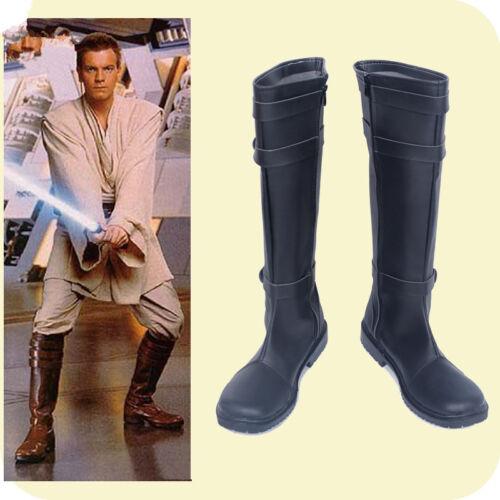 Star Wars Cosplay Jedi Knight Obi-Wan Kenobi Shoes black Boot costomize H.152