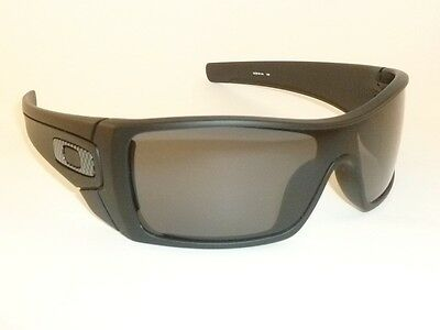 New OAKLEY BATWOLF Sunglasses Matte Black Frame OO9101-04 Grey Polarized  Lenses 56bb2ac453