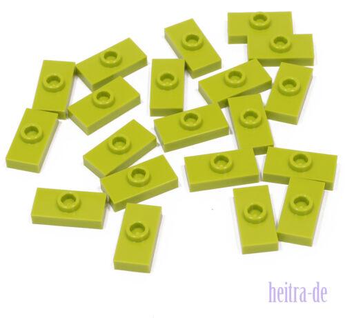 Lego - 20 x Convertisseur-Plaque 1x2 Hell-Vert (Lime)/Convertisseur article neuf 3794