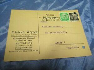 Postkarte-1934-Gaertnerei-Artikel-Fr-Wegner-Hannover-Post-Dokument-157