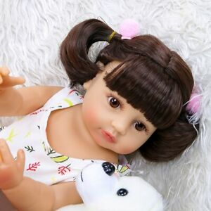 """22"""" Full Body Waterproof Reborn Baby Doll Girl Toddler with Clothes Kid Gift Toy"""