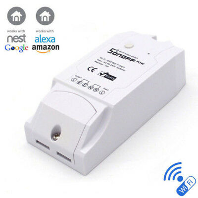 Sonoff Pow Wireless Remote Control WiFi Switch 16A Power Consumption Measurement