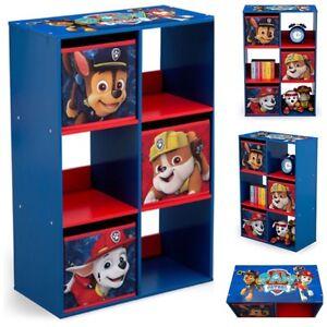 Kids toy storage box boys book cloth organizer chest Paw Patrol ...