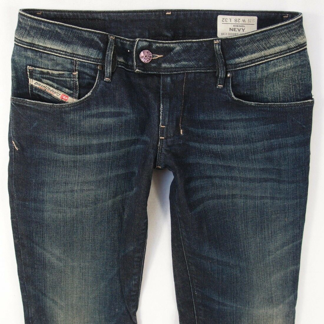 Ladies Womens Diesel NEVY 008B2 Stretch Slim bluee Jeans W28 L32 UK Size 8