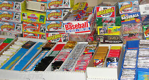 Vintage-Old-Baseball-Cards-Unopened-Packs-from-Wax-Box-Case-Huge-100-Card-Lot