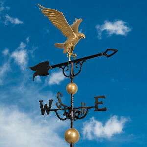 46-034-Full-Bodied-Eagle-Weathervane-Bronze-Gold