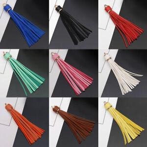 Women-Charm-Bag-pendant-Key-Ring-Key-Chain-Leather-Tassel-Handbag-Accessories-US