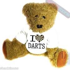 I Love Darts Novelty Gift Teddy Bear