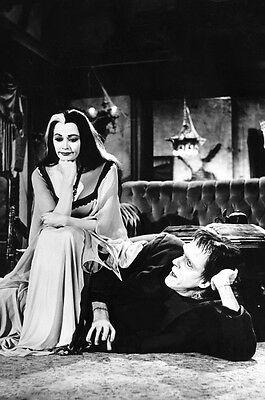 The Munsters 24X36 B&W Photo Poster Print