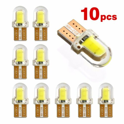 10pcs LED W5W T10 194 168 COB 8SMD Led Parking Bulb Auto Wedge Lamp Silica