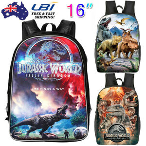 f2a18cf464 New 16 inch 3D Animals School Jurassic Park World Dinosaur Kids ...