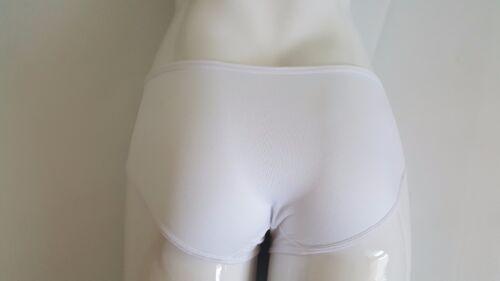 Damenslip Hipster Pantys Unterhose Schlüpfer unifarben weiß *NEU* Gr 5 Stk S
