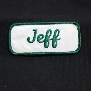 Embroidered Name Tag Patch ROB