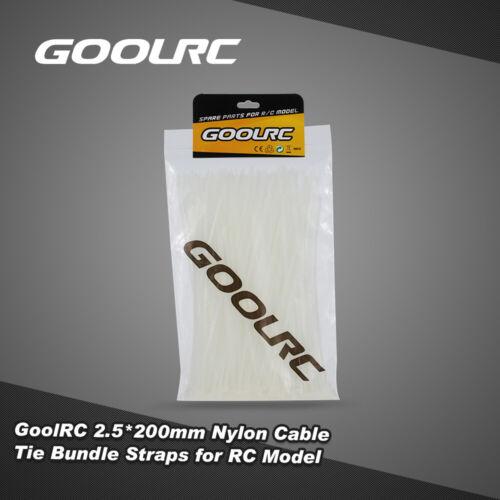 200Pcs GoolRC 2.5*200mm ESC Servo Motor Cable Nylon Tie Bundle Straps S8I9